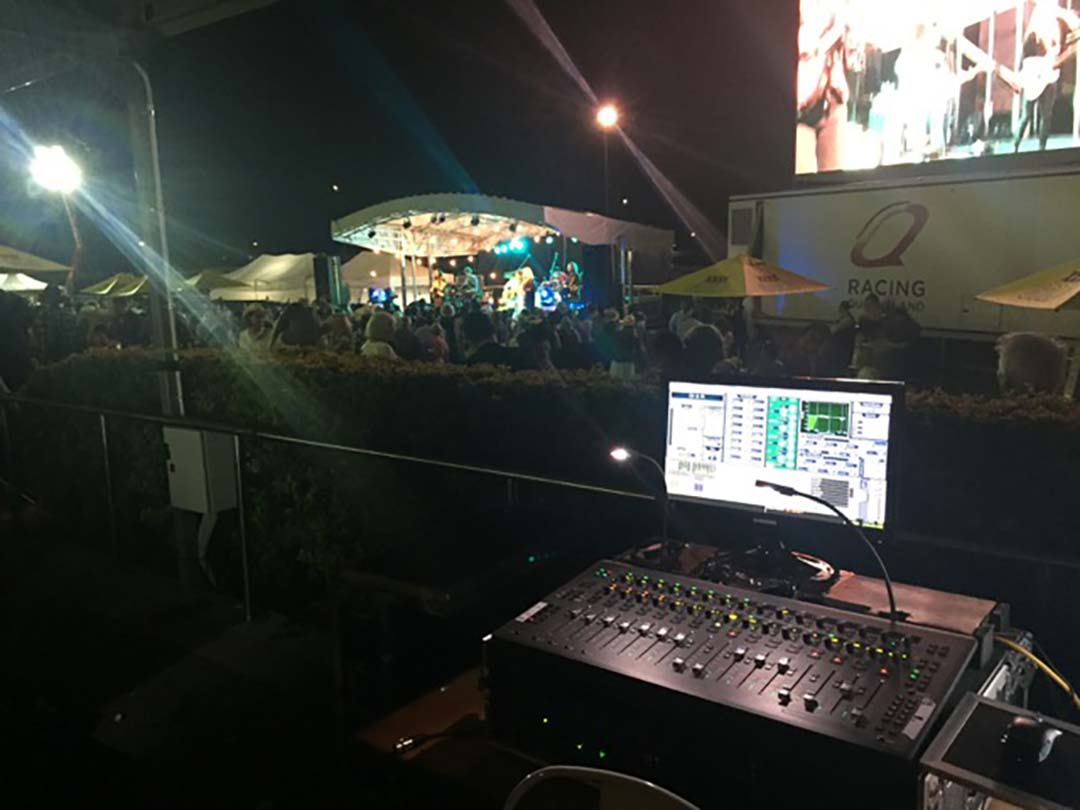 audiovisual event manager on a live event