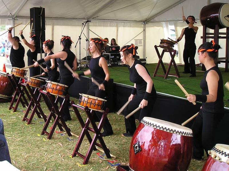Multicultural Festival drums presentation